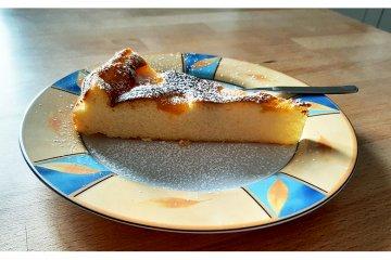 Quark-Mandarinen-Kuchen ohne Boden