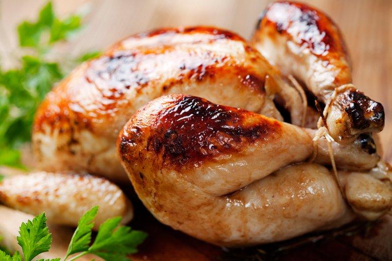 Grillhähnchen mit Kräuterfüllung