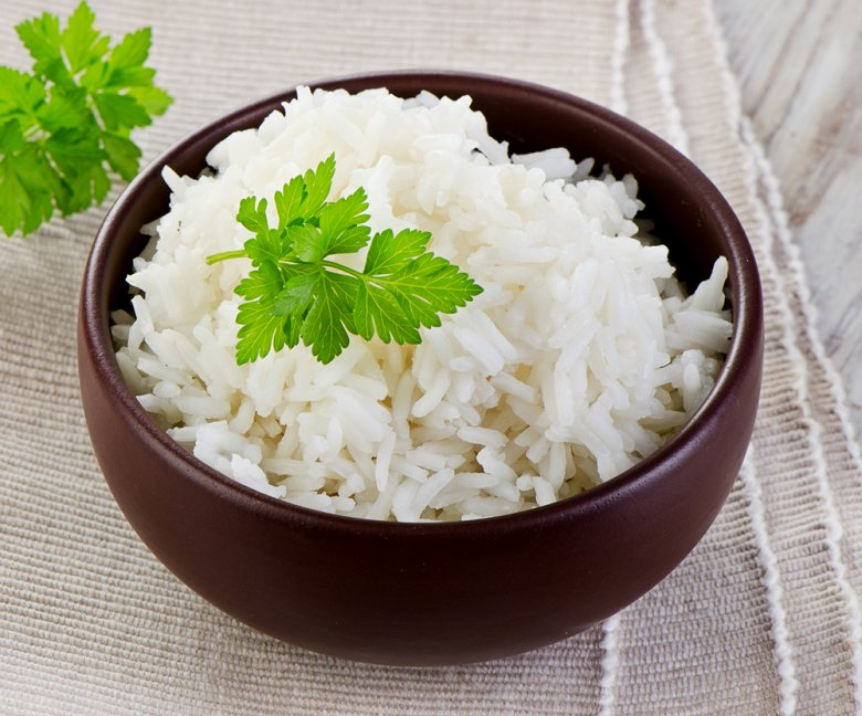 Reis aus dem Dampfgarer