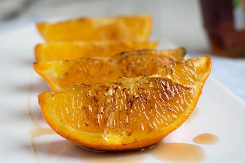Orange gegrillt mit Ahornsirup