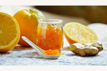 Ingwermarmelade mit Orangen