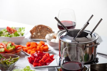 Vegetarisches Fondue