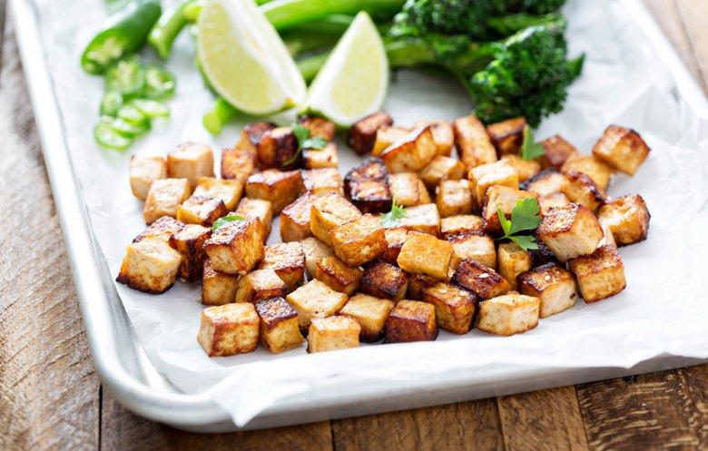 Gegrillter Tofu