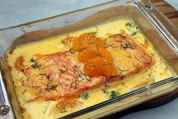 Lachs in Orangensoße