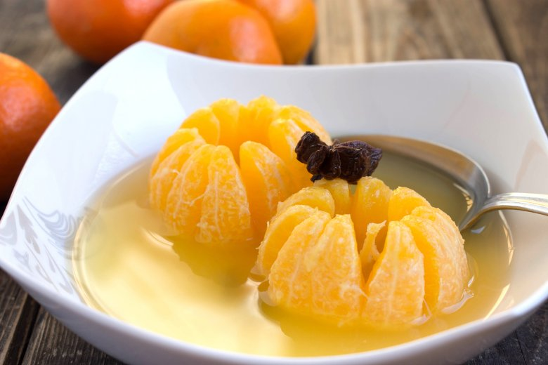 Gegarte Gewürz-Mandarinen