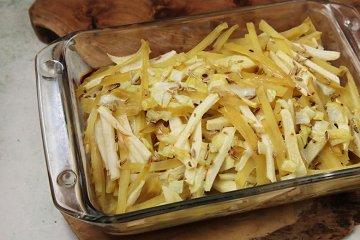 Pikanter Kartoffel-Apfelkuchen