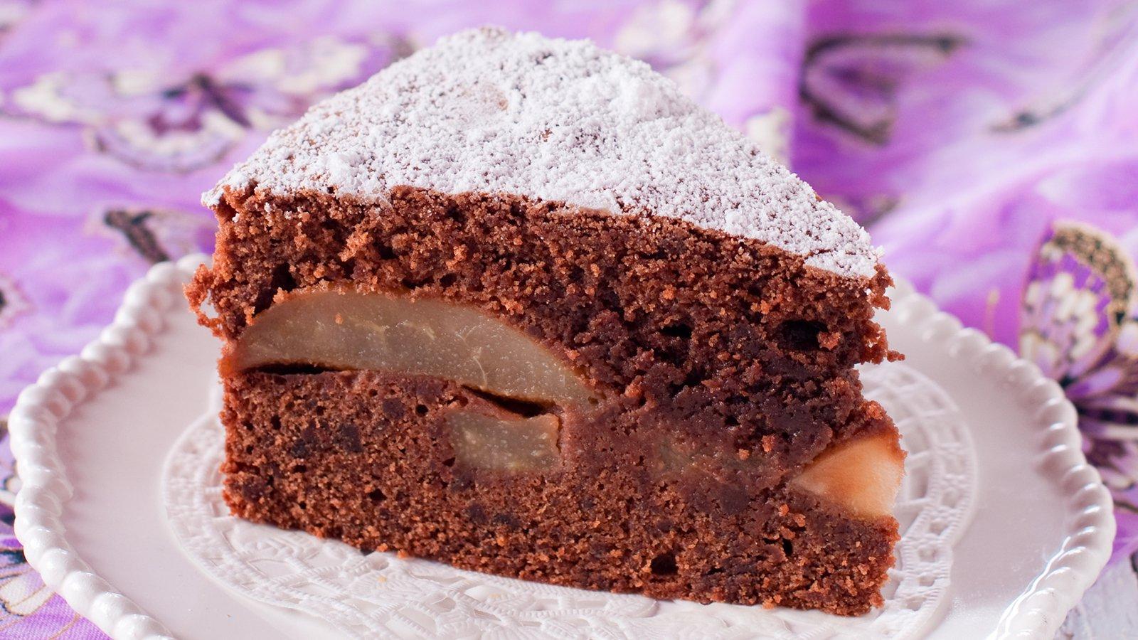 Veganer Schoko Walnuss Birnen Kuchen Rezept Gutekueche De