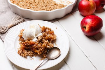 Apple Crumble mit Ingwer