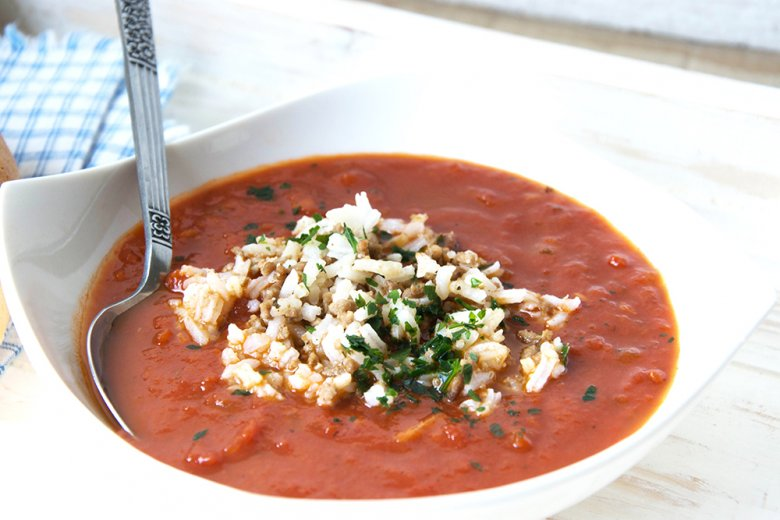 Tomatensuppe mit Biss