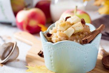 Milchreis mit Apfel-Zimt-Topping