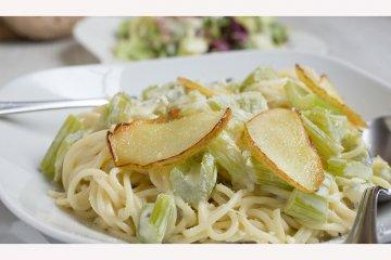 Spaghetti mit Gorgonzola-Sauce