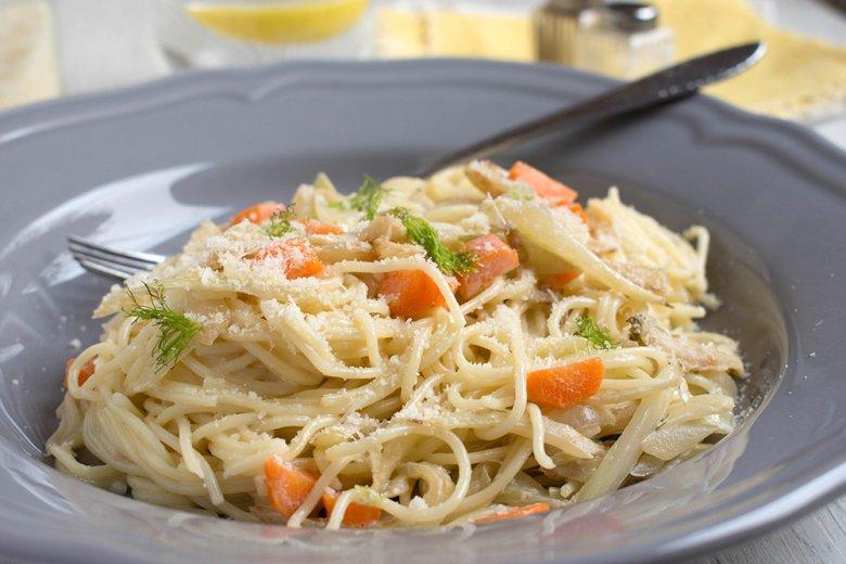 Spaghetti mit Fenchel-Gemüse