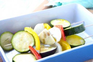 Sommerliche Gemüsespieße