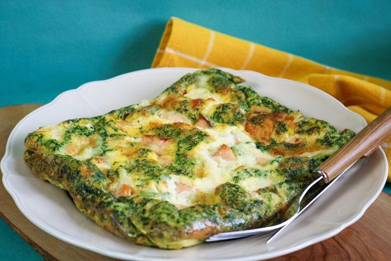 Spinat-Lachs-Käse-Omelett