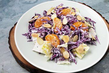 Radicchiosalat mit Orange