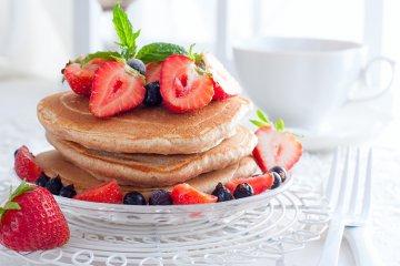 gesunde Pancakes aus Vollkornmehl