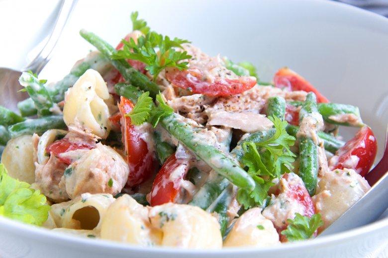 Nudelsalat mit Thunfischsauce