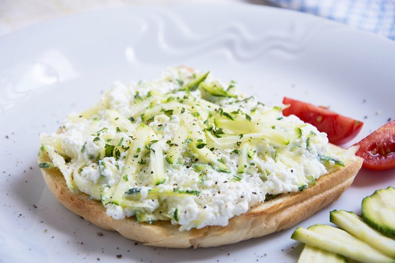Quarkaufstrich mit Zucchini