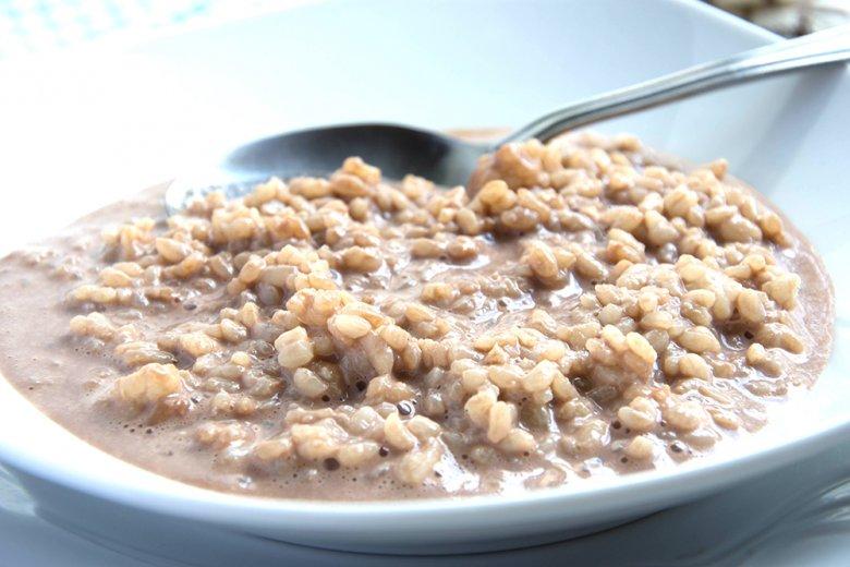 Milchreis mit Joghurt und Kakao