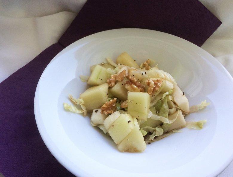 Birnensalat mit Melone