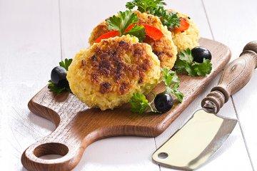 Reis-Käse-Puffer