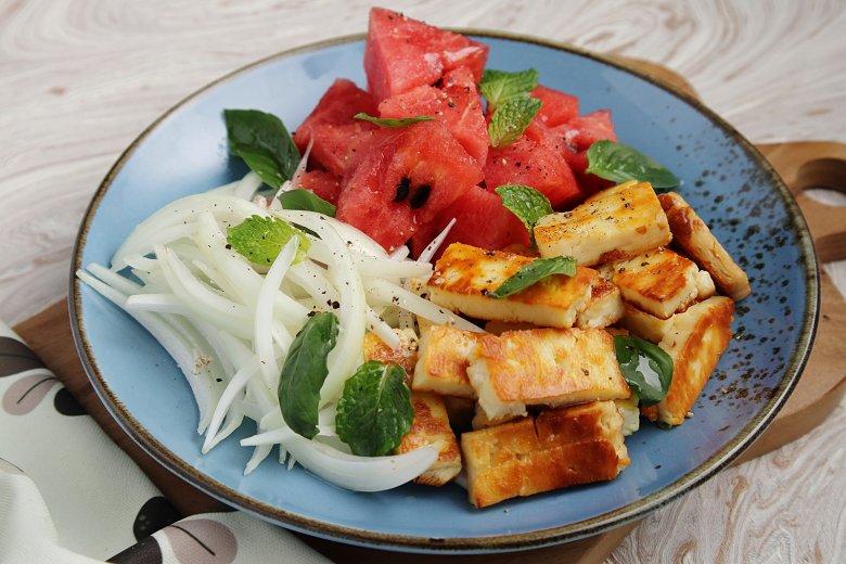 Halloumi-Wassermelonen-Platte