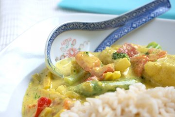 Veganes Thai-Erdnuss-Curry