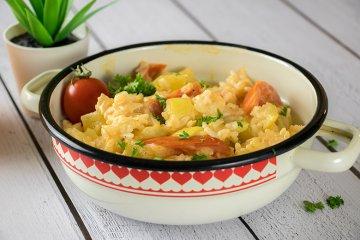Vegetarische Paprika-Reispfanne