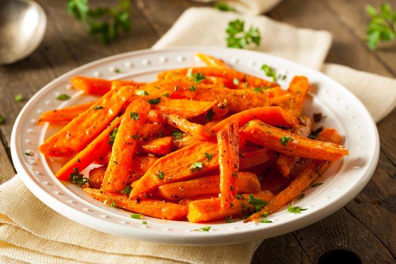 Glasierte Karotten