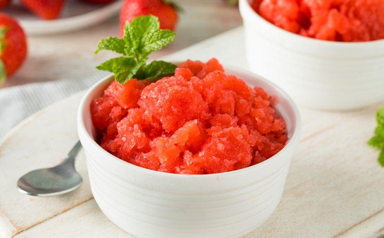 Erdbeer-Zitronen-Granita