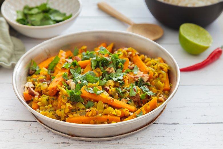 Karotten-Rosinen-Curry