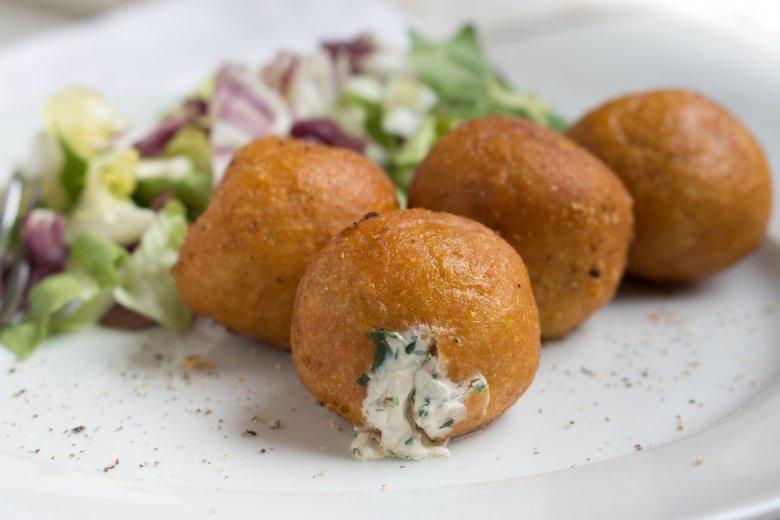 Gefüllte Kartoffelbällchen