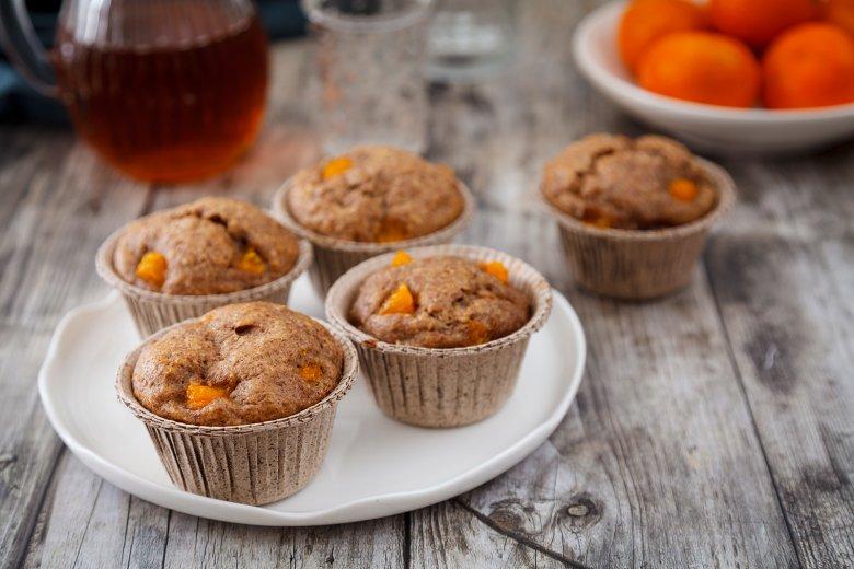 Schokoladen Muffins mit Mandarinen