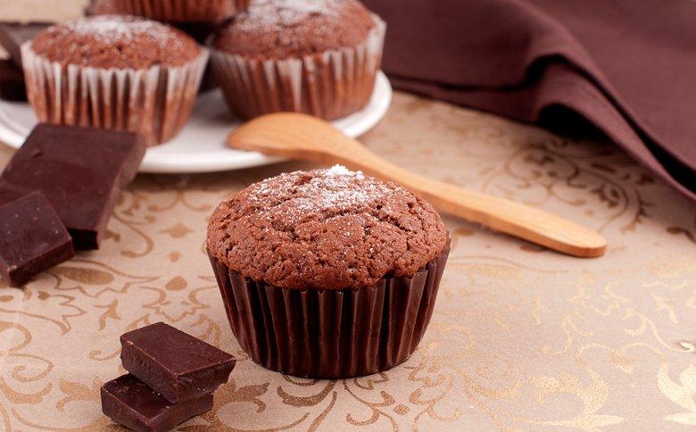 Schokoladenmuffins mit Buttermilch