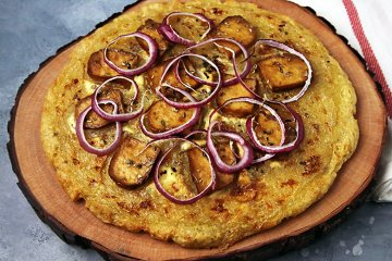 Vegane Kartoffelpizza