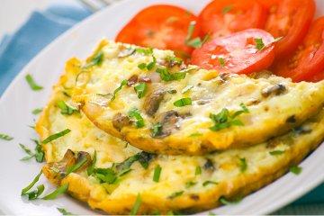 Veggie Pilz-Omelett