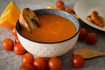 Exotische Tomatensuppe