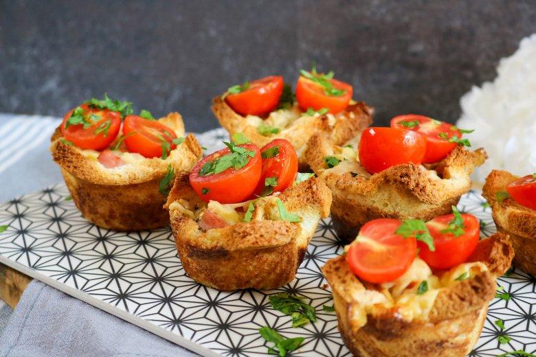 Herzhafte Toast-Muffins