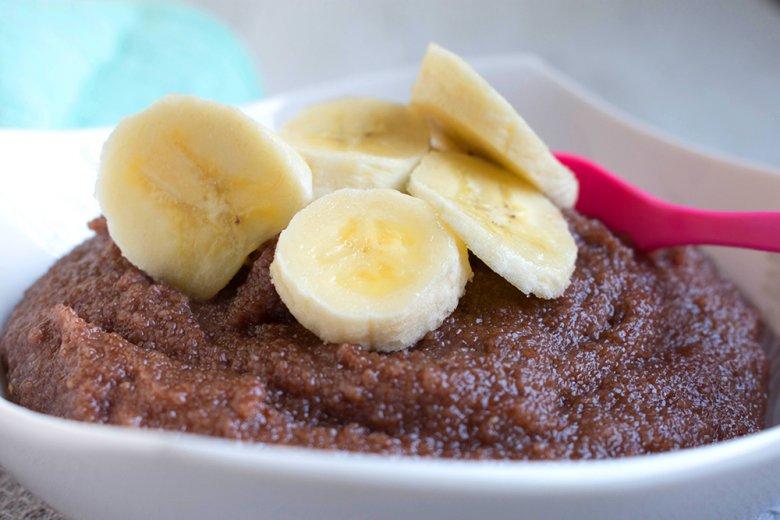 Schoko-Bananen-Grießbrei