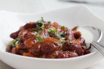 Feurige Chili-Bohnen mit Koriander