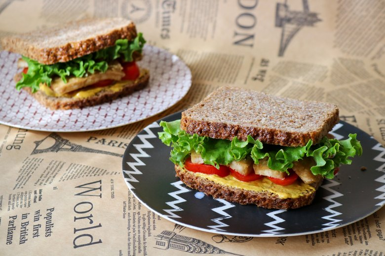 Veganes Tofu-Sandwich