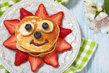 Lustige Pancake-Sonne