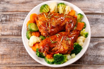 Conejo al Romero - Spanisches Kaninchen mit Gemüse