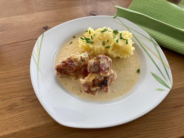 Schweinefilet in Gorgonzola-Creme