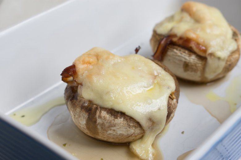 Gefüllte Champignons mit Harzer Käse