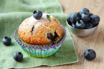 Saftige Blaubeer-Muffins
