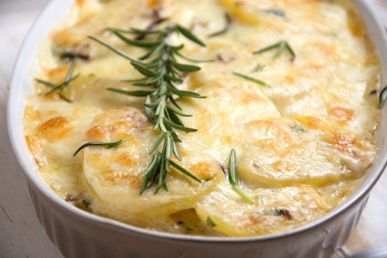 Veganes Kartoffel-Rosmarin-Gratin
