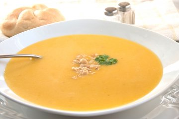 Süßkartoffel-Erdnuss-Suppe