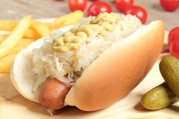 Amerikanische Hot dogs