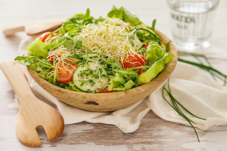 Alfalfasprossen-Salat